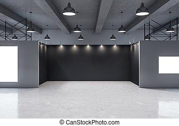 moderne, intérieur, galerie