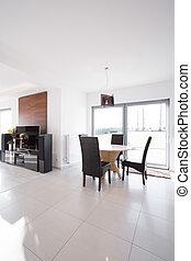 moderne, interieur, in, exclusief, fiscale woonplaats