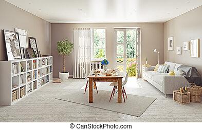 moderne, interieur