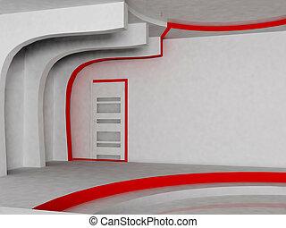 moderne, interieurdesign, van, woonkamer