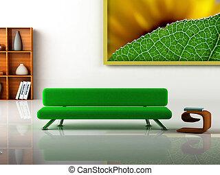 moderne, interior