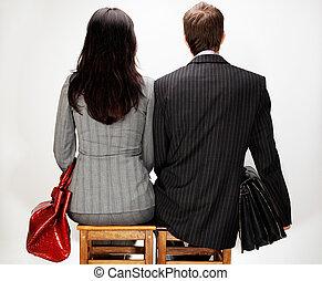 moderne, jeune couple