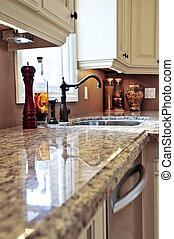 moderne, køkken, interior