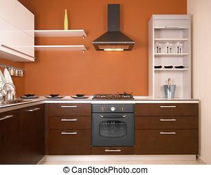 moderne, køkken