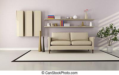 moderne kamer, levend