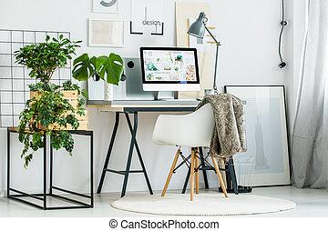 moderne, kantoor, kamer