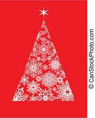 moderne, kerstmis, begroetende kaart