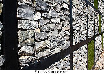Marvelous Moderne Kunst, Wand, Gras, Und, Steinigen Textur