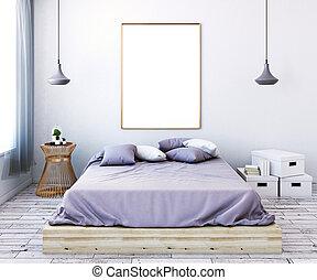Ornamental, mur, soveværelse, plakater. Ornamental, mur,... stock ...