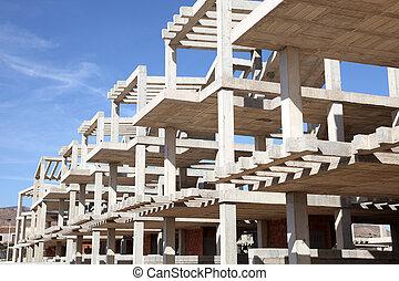 moderne, maison de plusieurs pièces, construction