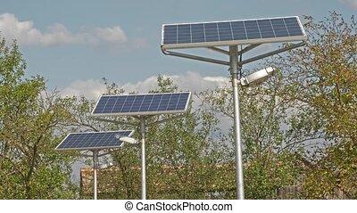moderne, panneau solaire