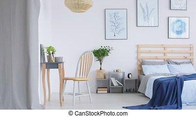 moderne, parents, chambre à coucher