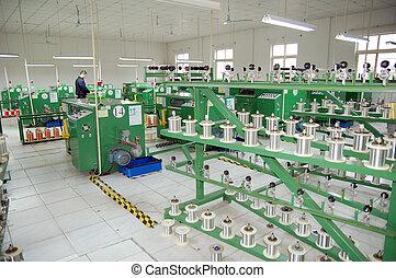 moderne, planlagt, fabrik, gulv