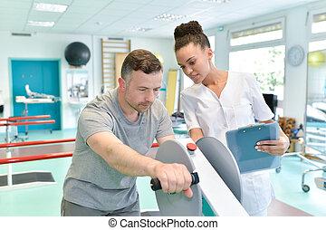 moderne, rééducation, physiothérapie