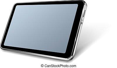 moderne, réaliste, tablette, icône, 3d, conception