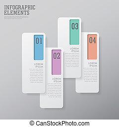 moderne, résumé, étiquette papier, infographic, éléments
