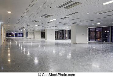 moderne, salle, bâtiment