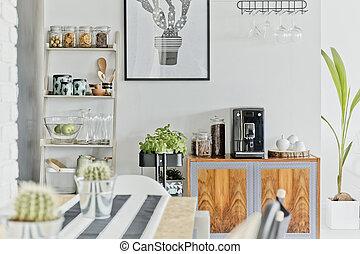 moderne, salle manger, secteur