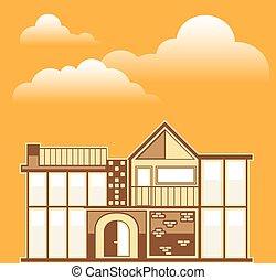 moderne, simplistic, maison
