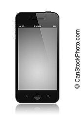 moderne, smartphone, à, écran blanc, isolé