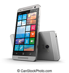 moderne, touchscreen, smartphone