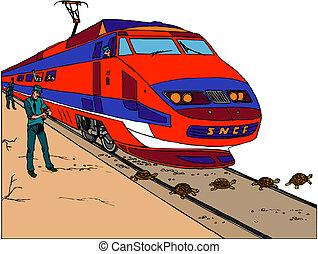moderne, train