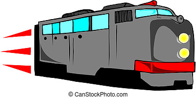 moderne, trein