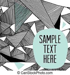 moderne, triangulaire, motifs, fond, géométrique, structural