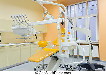 moderne, uitgeruste, tandkundige werkkring
