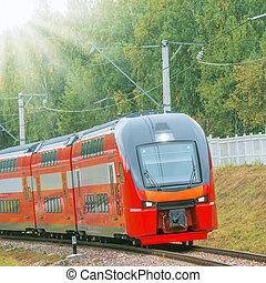 moderne, ultra-rapide, train.