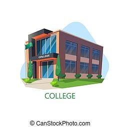 moderne, universiteit, architectuur, opleiding, de bouw.
