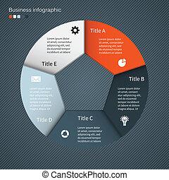 moderne, vector, info, grafisch, voor, zakelijk, plan