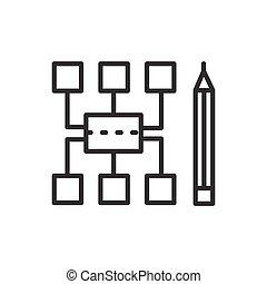 moderne, -, vector, ontwerp, lijn, icon., sitemap