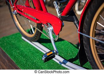 moderne, ville, vélo