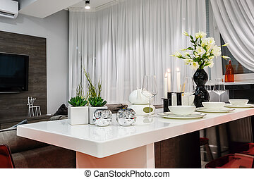 Moderne Eetkamer Set.Woonkamer Moderne Eettafel Witte Levend Flat Kamer Moderne
