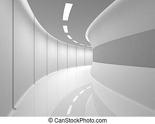moderne, witte , zaal