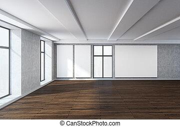 Modernes Zimmer, Mit, Leerer , Whiteboard