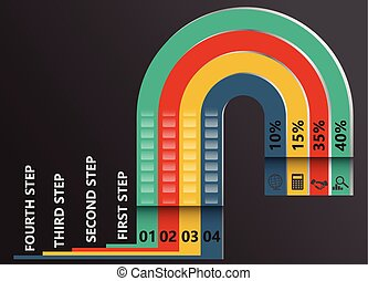 Moderninfographic timeline report