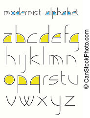 Modernist alphabet