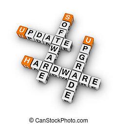 upgrade hardware and update software (3D crossword orange series)