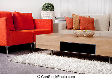 Modernized living room - Modern interior of a living room