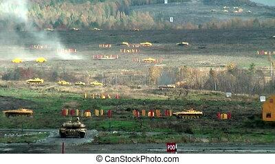 Modernized tank T-90S in action - Nizhniy Tagil, Russia -...