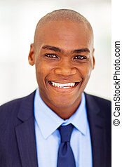 moderno, africano, uomo affari, closeup