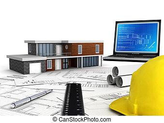 moderno, albergue construcción