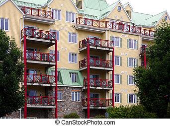 moderno, apartamento, (condo)