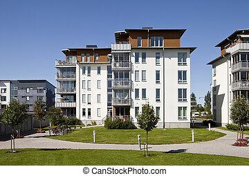 moderno, apartamentos