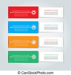 moderno, bandiera, affari, infographics