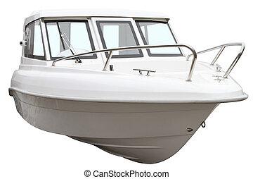 moderno, barco,  motor