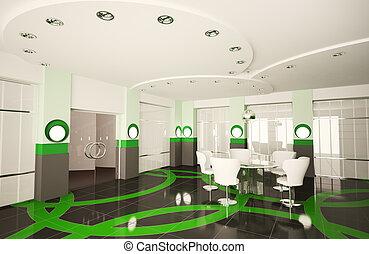 moderno, boardroom, 3d
