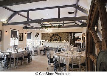 moderno, boda, lugar